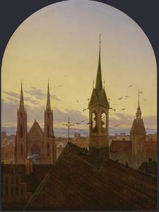 Frühläuten. Um 1840 by Carl Gustav Carus