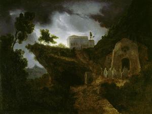 Heimkehr der Mönche ins Kloster. 1816-18 by Carl Gustav Carus