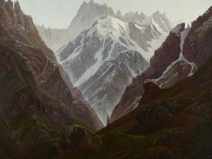 High Mountains, Ca, 1824 by Carl Gustav Carus