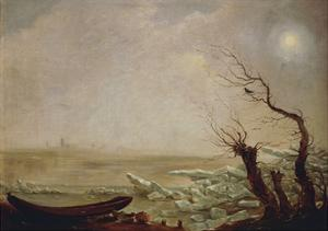 Landscape with Boat Amid the Ice by Carl Gustav Carus
