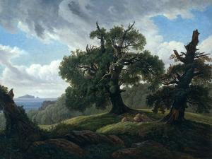 Memory of a Wooded Island in the Baltic Sea (Oak Trees by the Se), 1835 by Carl Gustav Carus
