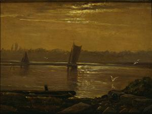 Moonlight on the Elbe, 1830 by Carl Gustav Carus