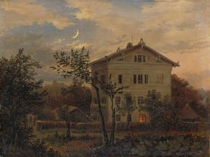The House of Carus in Pillnitz, Um 1835 by Carl Gustav Carus