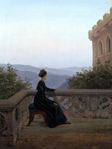 Woman on the Balcony, 1824 by Carl Gustav Carus