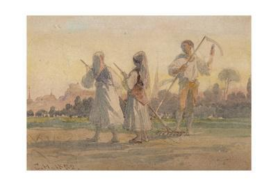 'Franconian Peasants near Wurzburg', Germany, 1852