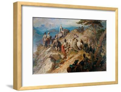 Morning in the Highlands. the Royal Family Ascending Lochnagar, 1853