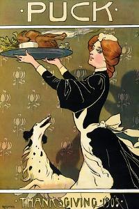 Thanksgiving Puck 1905 by Carl Hassmann