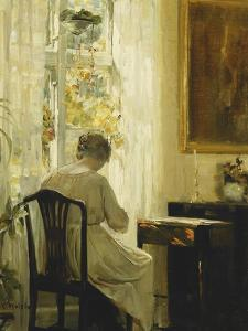 A Woman in an Interior by Carl Holsoe