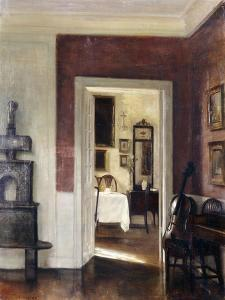 An Interior with a Cello by Carl Holsoe