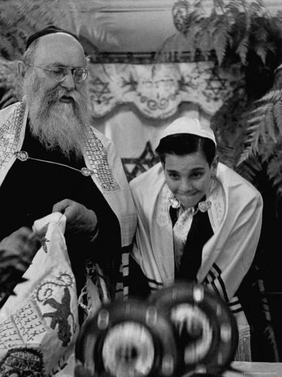 Carl Jay Bodek During Hebrew Ceremony with Rabbi David S. Novoseller-Lisa Larsen-Photographic Print