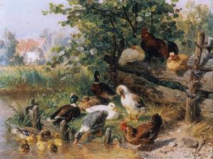 Summerly refreshment. 1901 by Carl Jutz