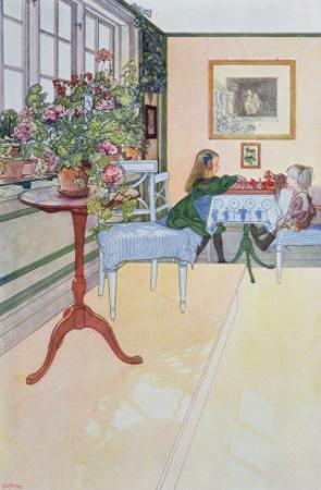 A Game of Chess, early twentieth century by Carl Larsson