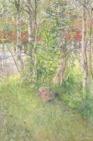 A Nap Out of Doors by Carl Larsson