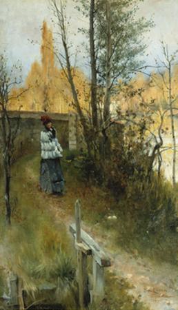 Autumn (Karin I Grez (Hostmotiv)) by Carl Larsson