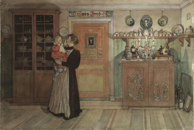 Between Christmas and New Year, from 'A Home' series, c.1895 by Carl Larsson