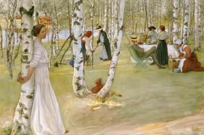 Breakfast in the Open (Frukost I Det Grona), 1910 by Carl Larsson