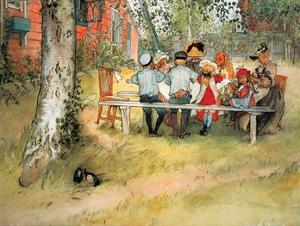 Breakfast Under Birch by Carl Larsson