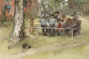 Breakfast under the Big Birch, from 'A Home' series, c.1895 by Carl Larsson