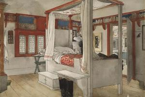 Daddy's Room, from 'A Home' series, c.1895 by Carl Larsson