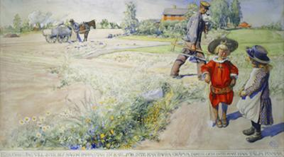 Esbjorn and the Peasant Girl by Carl Larsson