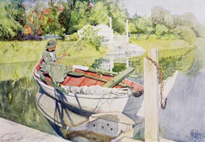 Fishing, 1909 by Carl Larsson