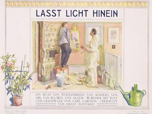 """Frontispiece to """"Lasst Licht Hinin"""",(""""Let in More Light"""") 1909 by Carl Larsson"""