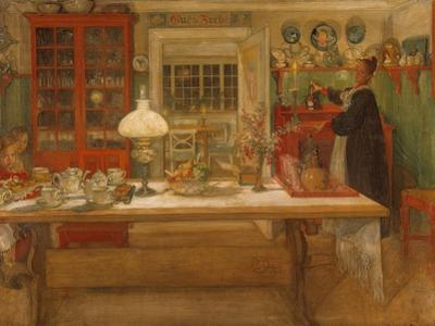 Getting Ready for a Game, 1901 by Carl Larsson