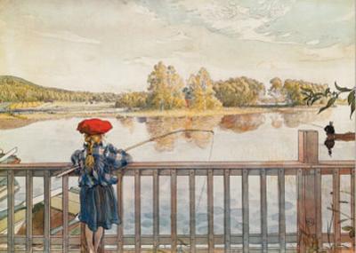 Girl Fishing by Carl Larsson