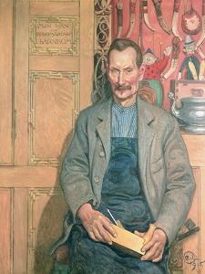 Hans Arnbom, the Carpenter by Carl Larsson