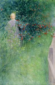 In the Holly Hedge by Carl Larsson