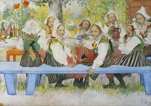 Kersti's Birthday, 1909 by Carl Larsson