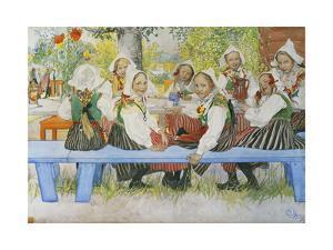 Kersti's Birthday by Carl Larsson