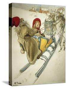 Kersti Sledging, 1901 by Carl Larsson