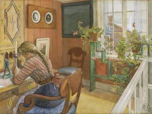 Letter-writing, 1912 by Carl Larsson