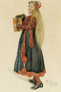 Lisbeth Playing the Accordian, 1909 by Carl Larsson