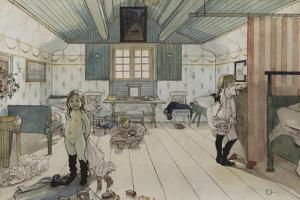 Mamma's and the Small Girl's Room, from 'A Home' series, c.1895 by Carl Larsson