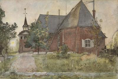 Old Sundborn Church, from 'A Home' series, c.1895 by Carl Larsson