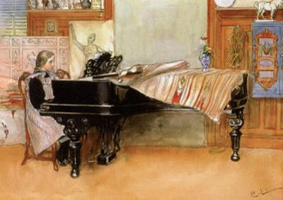 Skaloma Playing Scales by Carl Larsson
