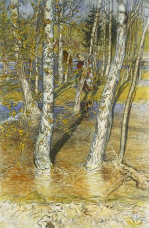 Spring Flood by Carl		 Larsson
