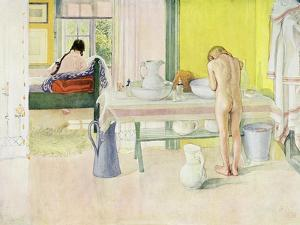 """Summer Morning, Published in """"Lasst Licht Hinin,"""" (""""Let in More Light"""") 1908 by Carl Larsson"""