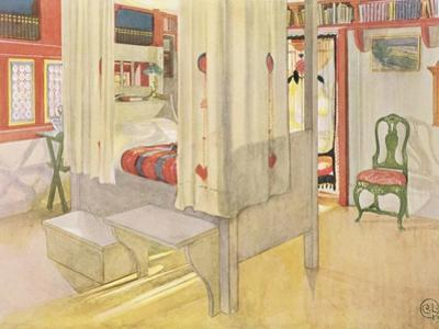 "The Bedroom, Published in ""Lasst Licht Hinin,"" 1909 by Carl Larsson"