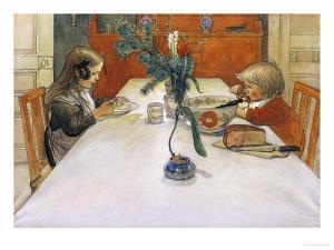 The Evening Meal by Carl Larsson