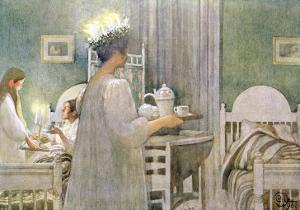 The Feast of St. Lucy on 13th December, 1916 by Carl Larsson