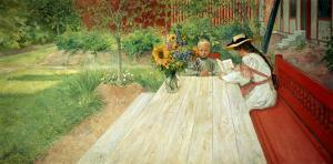 The First Lesson, 1903 by Carl Larsson