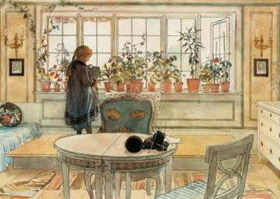 The Flower Window by Carl Larsson