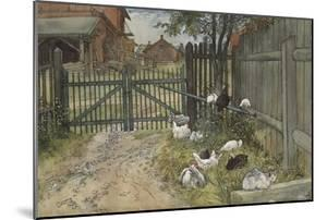 The Gate, from 'A Home' series, c.1895 by Carl Larsson