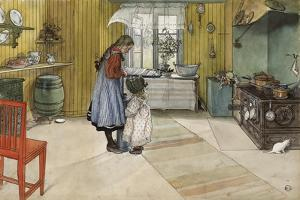The Kitchen, from 'A Home' Series, c.1895 by Carl Larsson