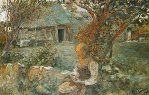 The Last Rays by Carl Larsson