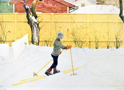 The Skier, circa 1909 by Carl Larsson