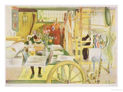 "The Workroom, Published in ""Lasst Licht Hinin,"" (""Let in More Light"") 1909 by Carl Larsson"